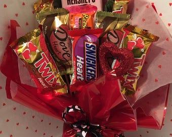 Valentine Candy Bar Bouquet