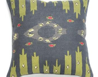 Owen Pillow - Charcoal/Green