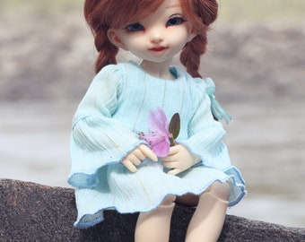 Cotton dress for 1/6 YOSD bjd dolls LittleFee