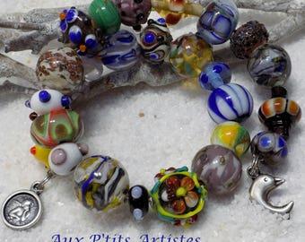 Wholesale lot 27 lampwork beads