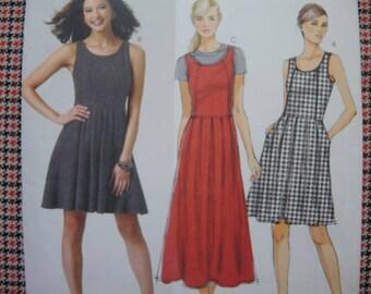 2000s sewing pattern Butterick 5781 misses dress UNCUT size 14-16-18-20-22