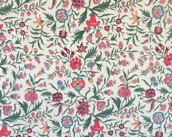 Beautiful 19th C. French Exotic Floral Wallpaper (#W102)
