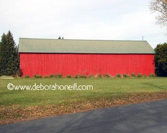 """Barn Photography """"Red Christmas Barn"""""""