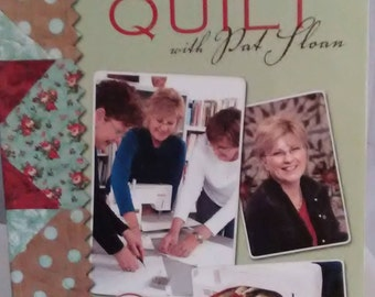QUILT BOOK/Learn to Machine Quilt with Pat Floan/Leisure Arts List Price Sixteen Ninety Five