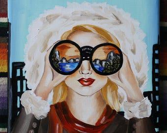 Day Dreamer Mountains, Mountain Art, Custom Portrait, Custom Art, Travel, Travel Gift, Favorite Place, Custom Illustration, Personal Art