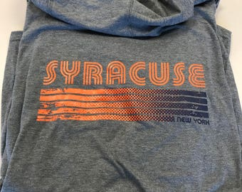 Syracuse Long Sleeve Hooded Tee