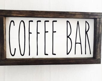 Coffee Bar Sign | Farmhouse | Rae Dunn Inspired | Farmhouse Decor | Kitchen Decor | Rae Dunn | Farmhouse Style