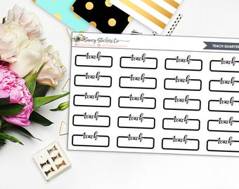 Teach Neutral Quarter Box | for use with Erin Condren Lifeplanner™, Filofax, Personal, A5, Happy Planner