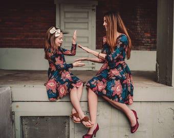 Womens Paisley Floral Bespoke Dress