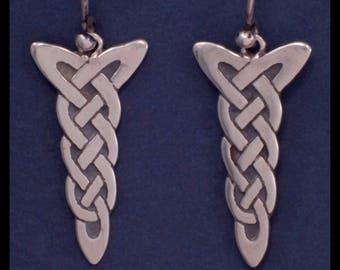 Celtic CHI RHO KNOTS- Earrings- Sterling Silver