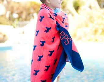 Personalized Beach Towel Dog Print