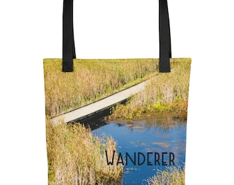 Wanderlust Tote Bag, Travel Lovers Gift, Traveler Country, Yoga Beach Environment for Women Girls Overnight, Road Trip, Nature Photo Handbag