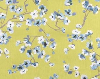 Green Floral Pillow Cover, Blue, Decorative Pillow, Throw Pillow, Spring Pillow, Botanical, Modern, White, Chartreuse