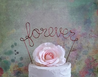 FOREVER Wedding Cake Topper, Rustic Wedding Cake Decoration,Rustic Wedding Centerpiece,Bridal Shower Decoration,Engagement Party,Anniversary