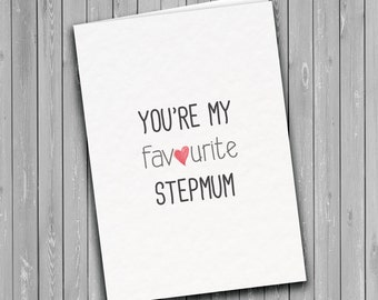 Stepmum Card, mothers day card, humorous card