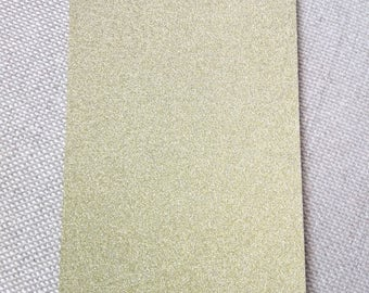 "Postcard card ""Glitter"" gold"