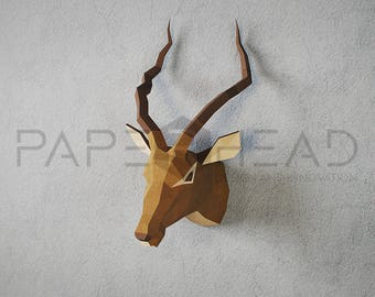 Make your own Antelope trophy head | DIY | Papercraft |  Antilope |