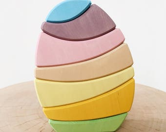 Stacking Egg Toy Pastel