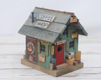 Vintage Folk Art M. L. Studtman Bird House General Store Handmade Wood