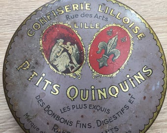 french antique vintage art deco advertising lithographiee candy box