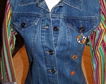 Refurbished Womens Denim Jacket, Size-small