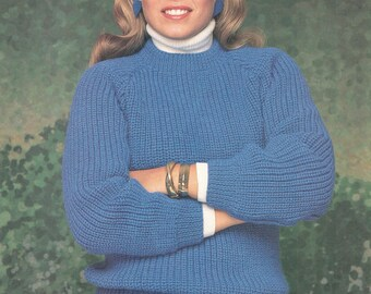 Vintage Shakers Sweater Knitting Pattern for Men and Women