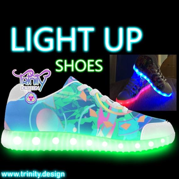 5fe9239f245385 Music Unisex Rave Outfit Cute Clothing Edm Custom LIGHT UP SHOES Women Men  Festival Trippy Burning ...