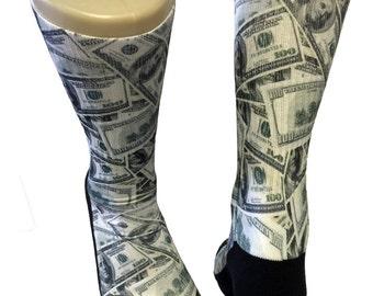 Custom 100 Bill SS Athletic Socks