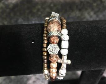 Handmade Wrapped Cross Bracelet