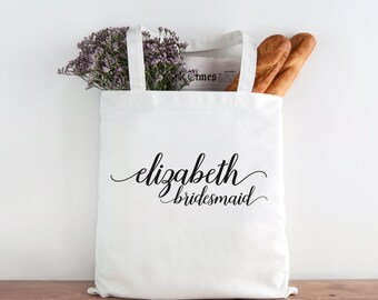 Bridesmaid Tote, Personalized Bridesmaid tote, Custom bridesmaid tote, Wedding party, wedding party gift