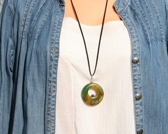 Pendant agate, agate necklace, long necklace, gemstone necklace, blouses and sweaters, free shipping