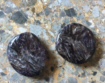 Charoite Palmstone, Reiki Healing stone, aids Sleep, can help with ADHD etc...