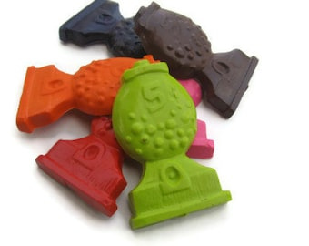Gumball machine crayons set of 24 - Gumball Crayons - Gumball Party Favors - Gumball Birthday Party - Candy Party Favors - Bubble Gum Party