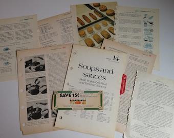 Cookbooks: Vintage Book Pages
