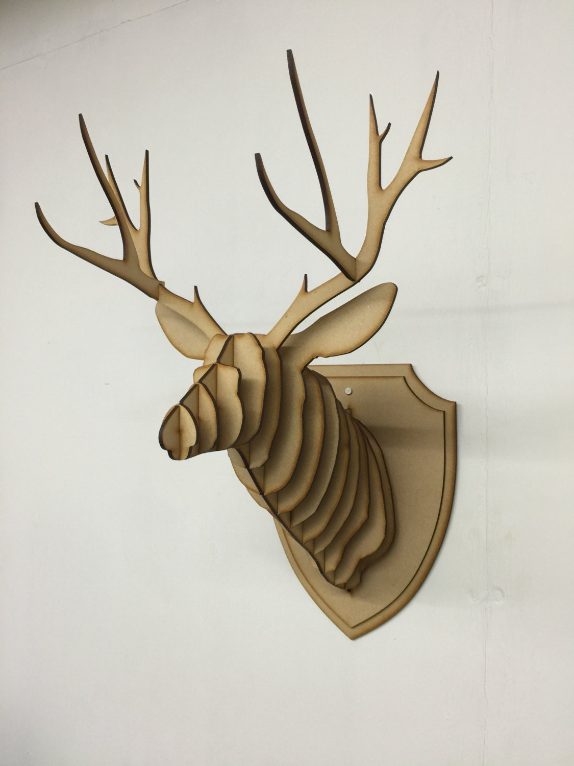 Large small wooden deer head kit wall art decor laser cut zoom amipublicfo Choice Image