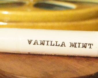 Sweet Vanilla Mint Lip Balm All Natural! BLACK Tubes