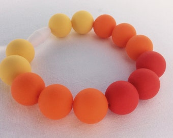 Silicone beaded bracelet mama teether baby