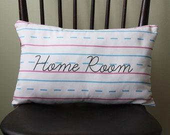 Penmanship Pillow - Home Room // School // Handwriting // Personalized Teacher Gift // Elementary School // First Second Third Grade