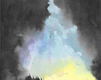 Sky Fire print