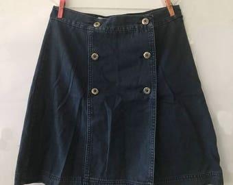 Denim Wrap Skirt - Classic A-Line