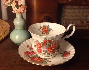 Royal Albert Bone China Centennial Rose Teacup and Saucer Made in England