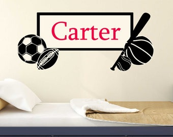 Sports wall decal  boys wall sticker wall vinyl decals for boys Wall Decal perfect decoration for nursery or playroom