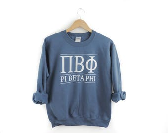 New Pi Beta Phi Maroon Crewneck Sweatshirt Pullover // You Pick Color // Size S-3XL
