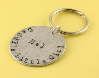 SALE - Father's Day Gift for Dad or Grandpa - Daddy's Little Girl Personalized Keychain - Key Ring - Key Chain - Key Fob - Gift for Dad