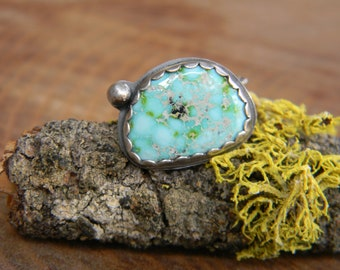 Sonoran Gold Turquoise Ring - size 6 - Mexican Turquoise
