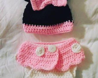 Minnie Mouse Diaper Set Newborn
