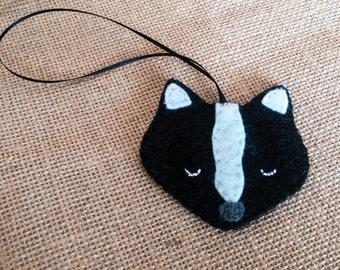 Felt Skunk Ornament Wildlife Ornament
