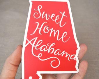Sweet Home Alabama Red Vinyl Decal