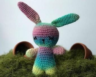 Handmade Rainbow Bunny Rabbit