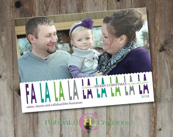 Family Holiday Card - Fa La La